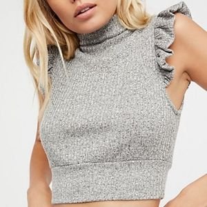 """Free People """"The Betsey Crop"""" grey"""